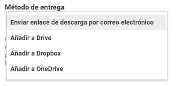 google takeout entrega