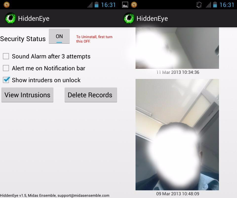 Hidden Eye aplicaciones espía