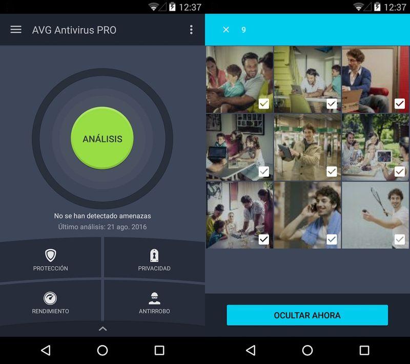 aplicaciones espia android AVG antivirus