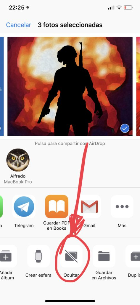 ocultar fotos-ios12